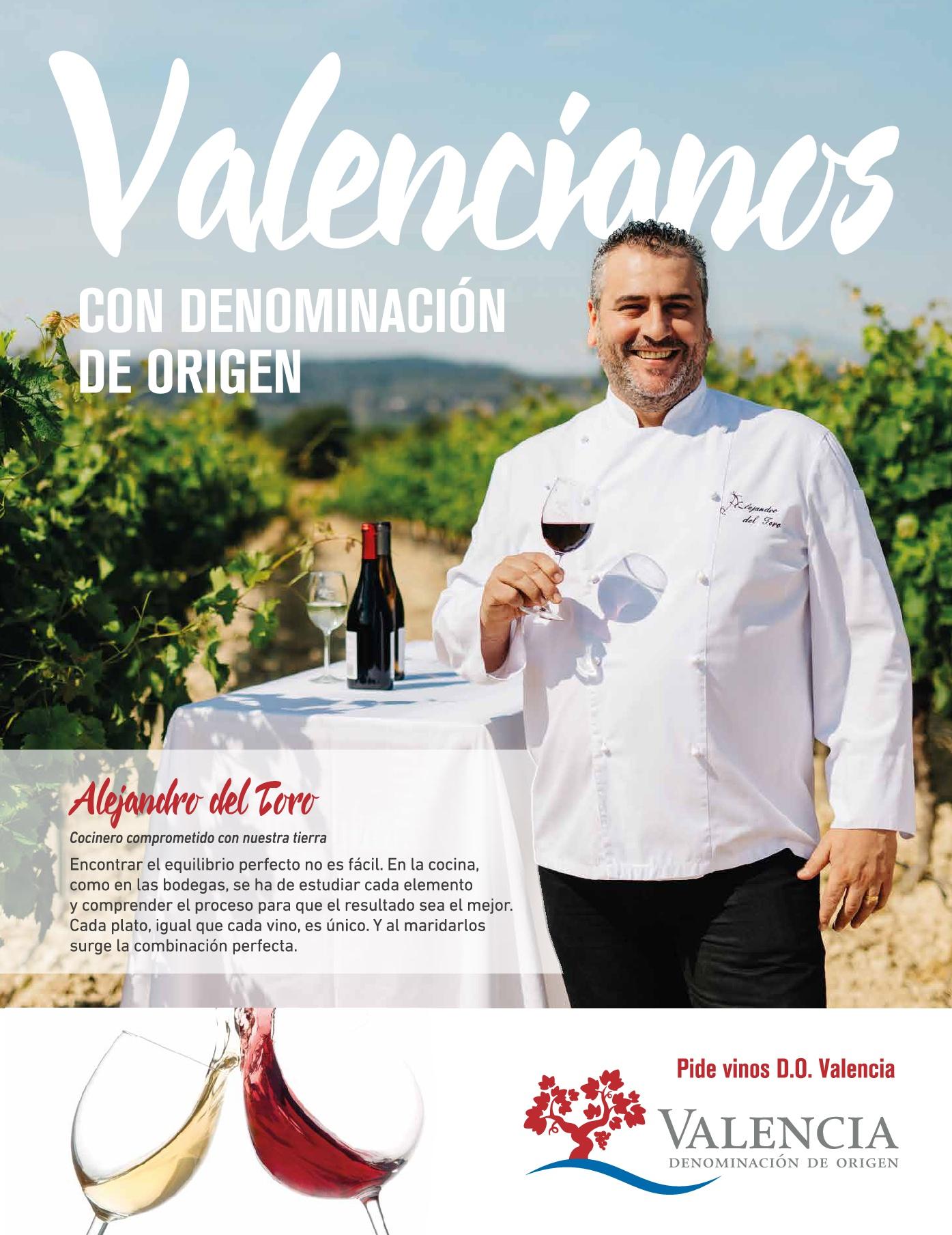 Alejandro Del Toro, nuevo embajador de la D.O.P Vinos de Valencia
