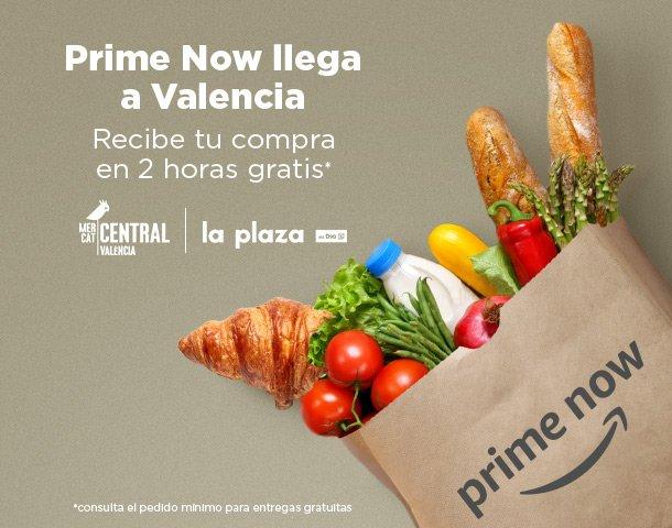 Nuevo en Amazon: Prime Now llega a Valencia