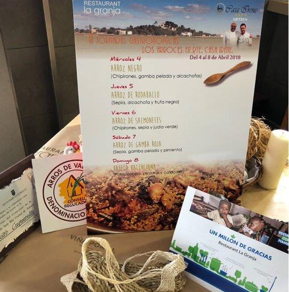 El restaurante la Granja de Sueca prensenta las II jornadas de arroz en el Vall de Arán