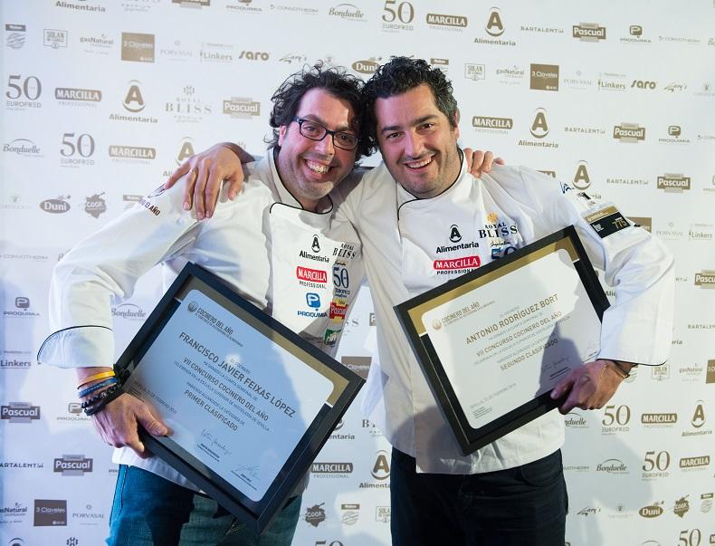 Dos chefs andaluces ganadores de la 4ª semifinal del VII Concurso Cocinero del Año