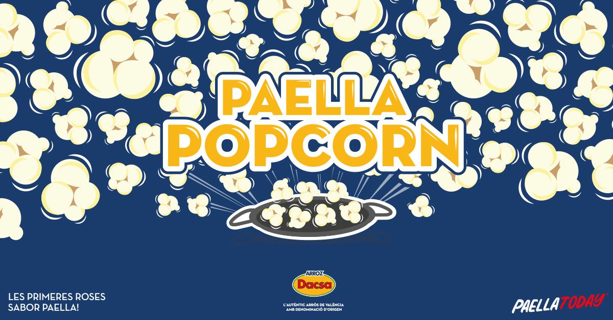 Paella Popcorn, las primeras palomitas con sabor a paella