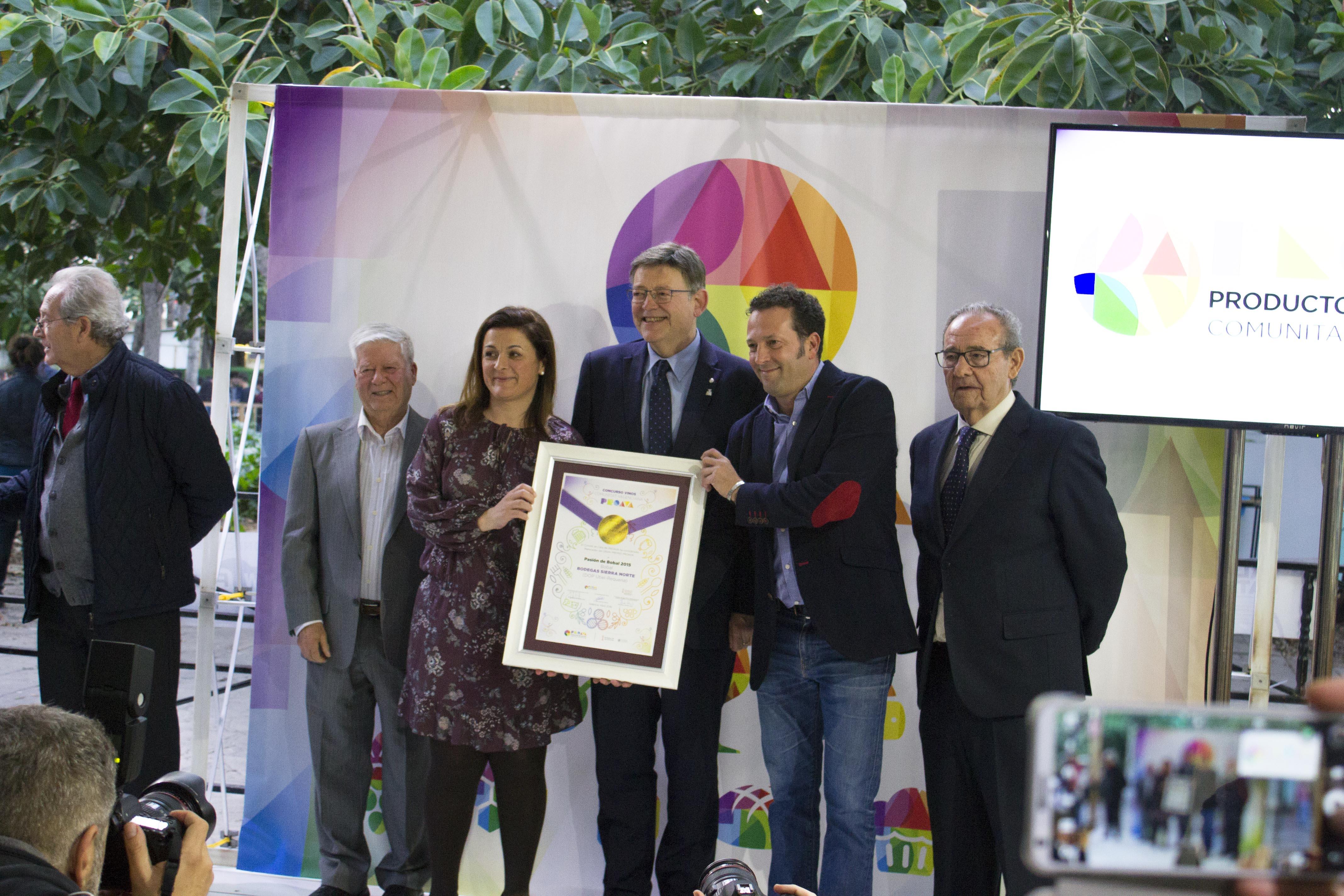 Bodega Sierra Norte recoge el gran premio Proava para pasión de bobal