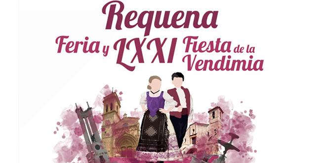 """Cartel anunciador de la """"Feria y 71 Fiesta de la Vendimia de Requena 2018"""""""