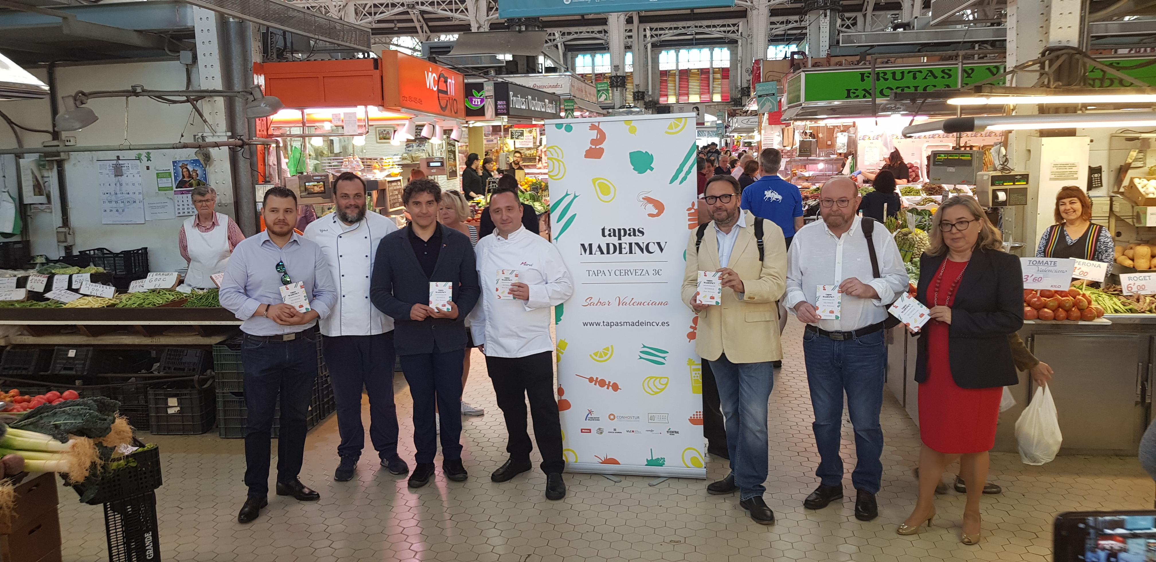 Colomer participa en la presentación de la campaña 'Tapas MadeinCV' de Conhostur