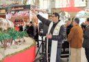 El Mercado Central muestra al público su Belén artesano, elaborado por sus vendedores