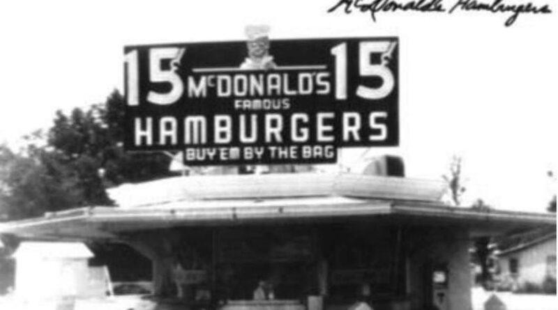 La primera tienda de McDonald's